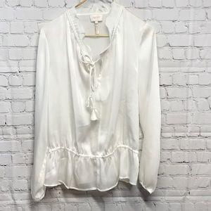 Beautiful & delicate blouse sheer romantic boho